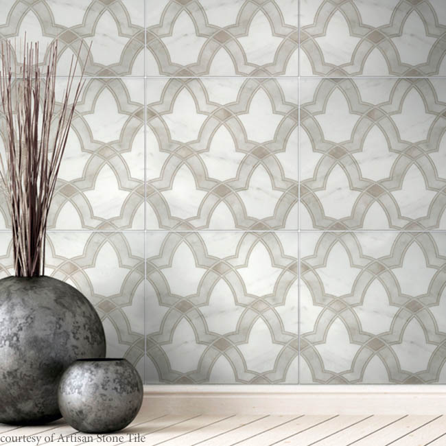 Tile with a calming design