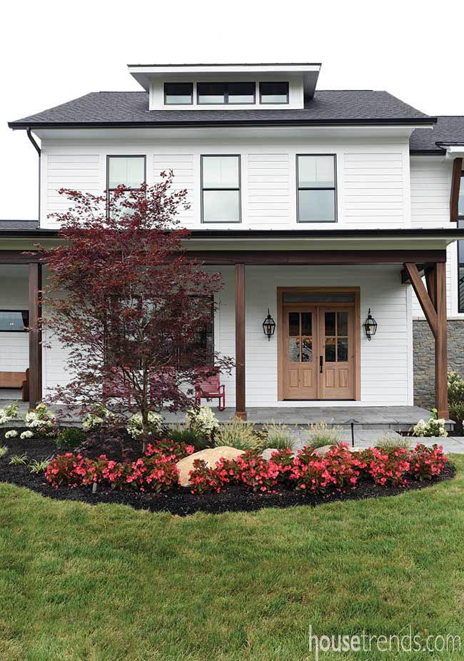 Home with a modern farmhouse vibe