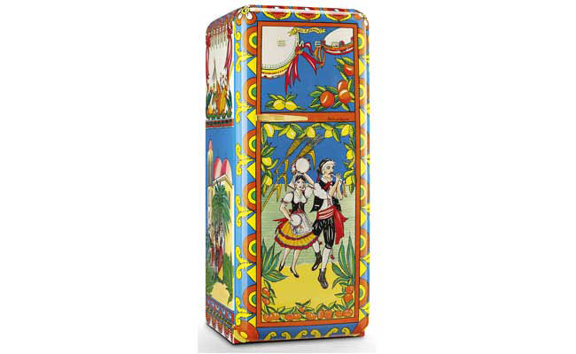 Colorful refrigerator from SMEG