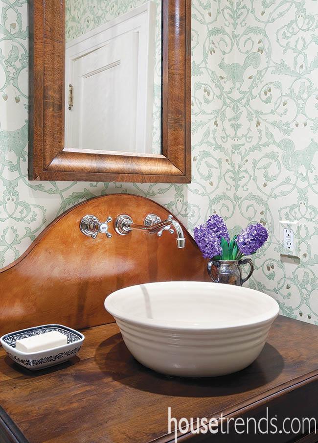 Bathroom vanity pays tribute to history