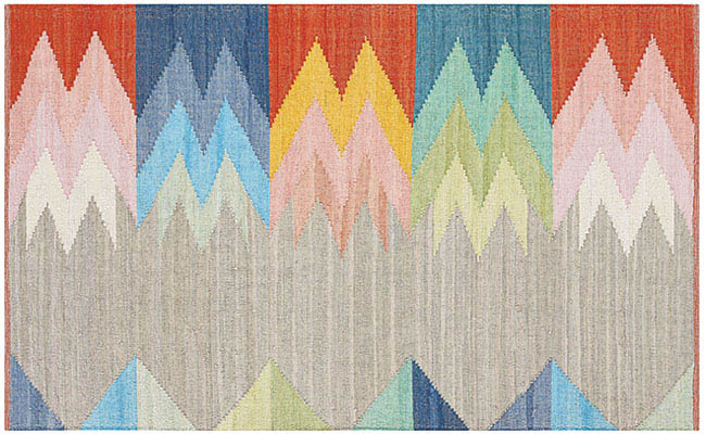 Upcycled rug with a bold design