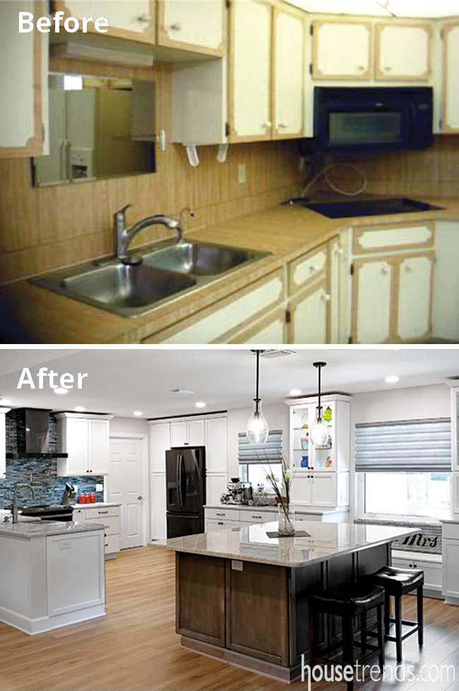 Kitchen remodel results in open floor plan