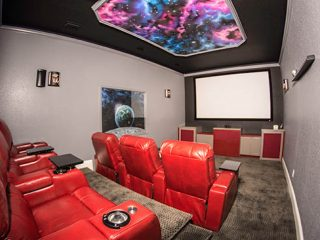 Home theater by Emerald Contractors