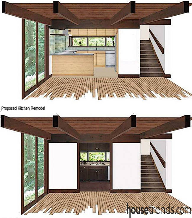 Rendering shows off a potential kitchen design