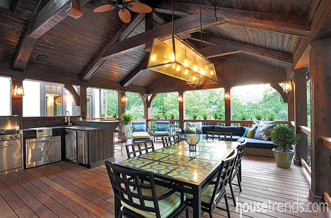 Porch carries on a home's style