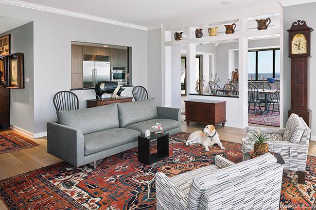 Living room gets a historic twist
