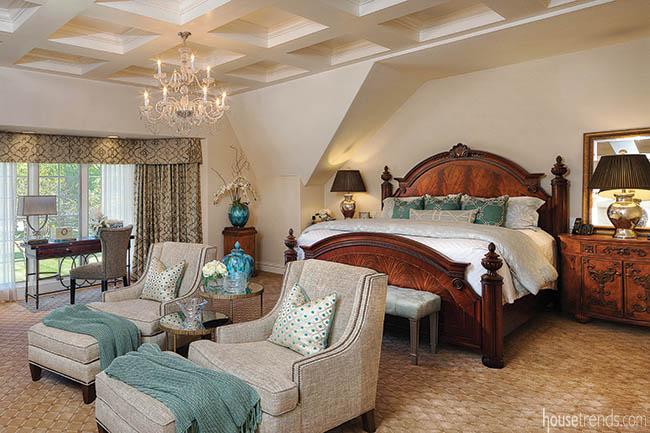 Bedroom design creates a true master retreat