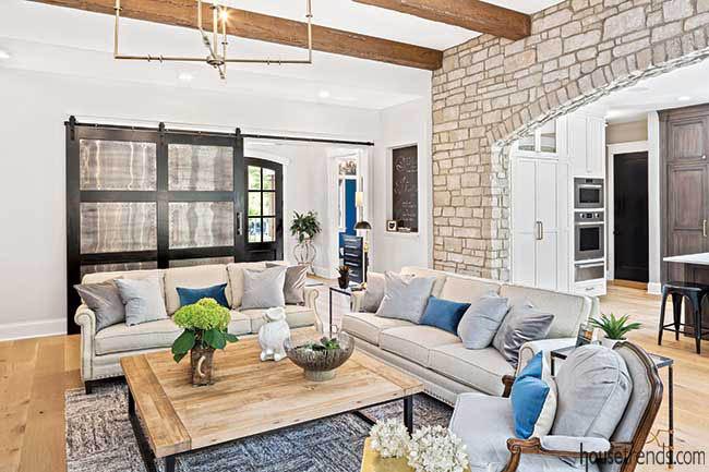 Home boasts metal sliding barn doors