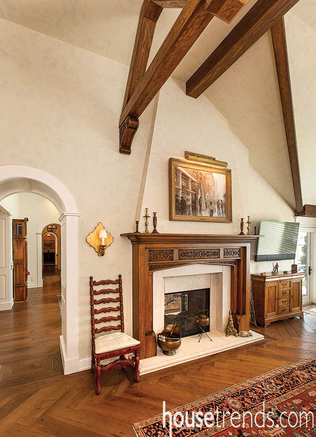 Hearth room shows off wall art