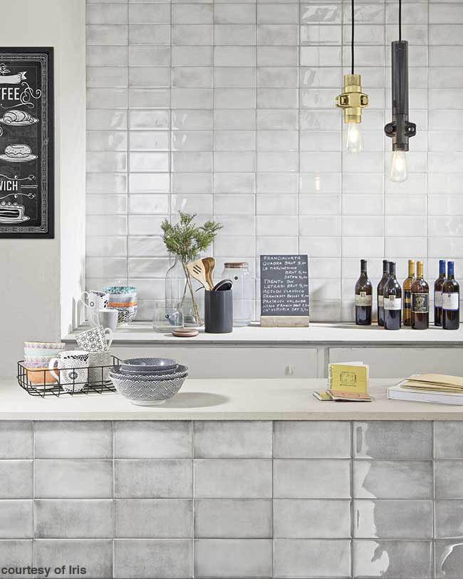Backsplash contributes to a clean kitchen design