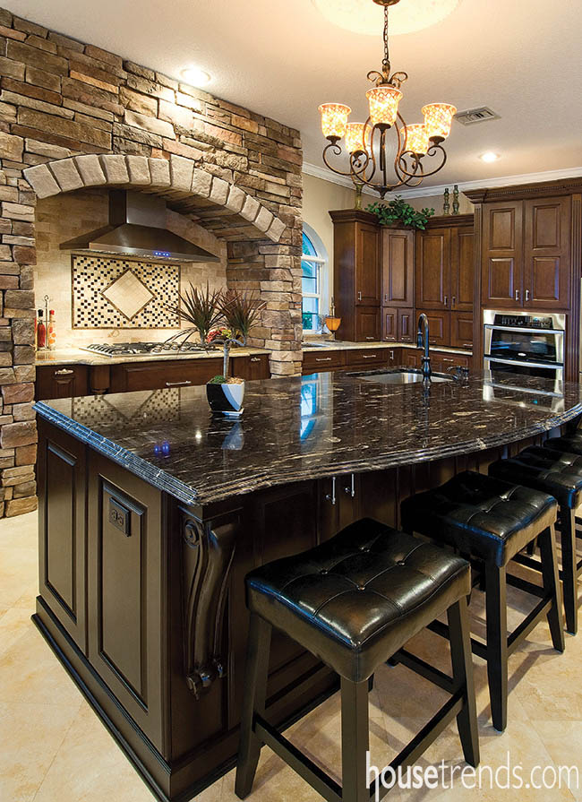 Kitchen island gets a central location