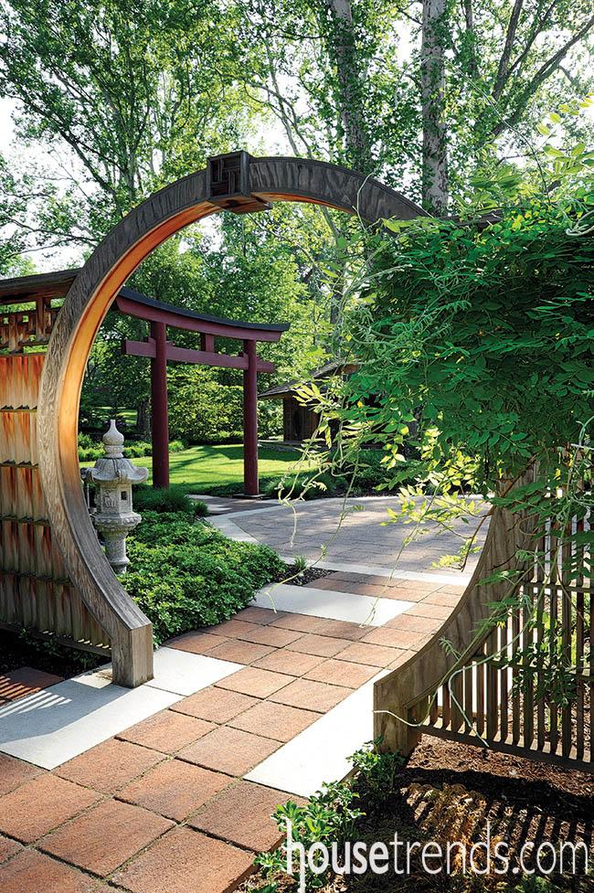 Garden gets a picturesque entrance
