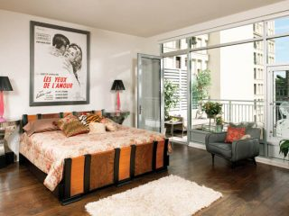 Master bedroom designs pay respects to decades past