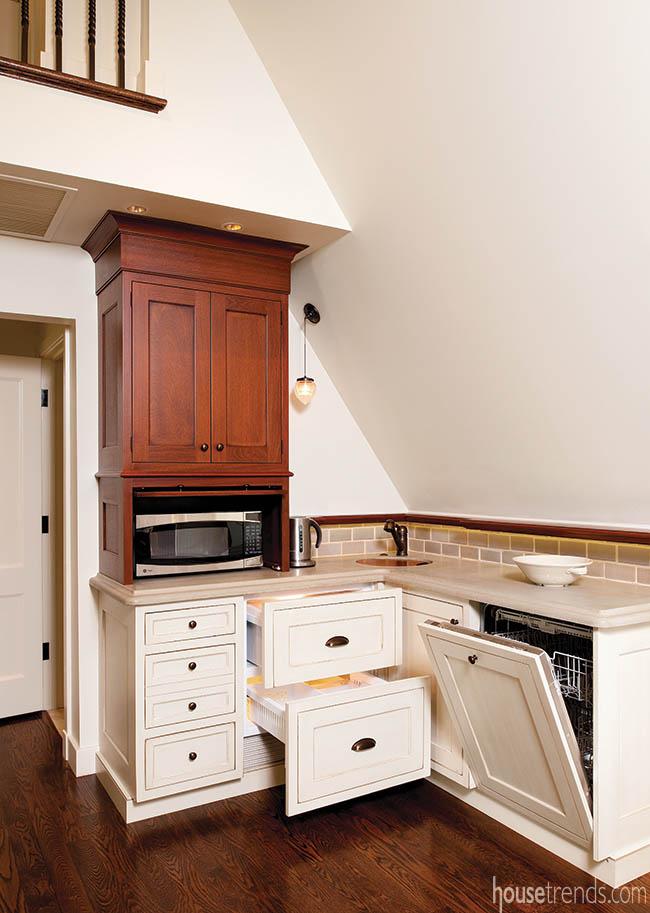 Kitchenette features essential kitchen appliances