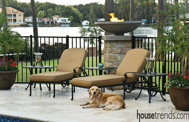 Outdoor furniture completes a patio