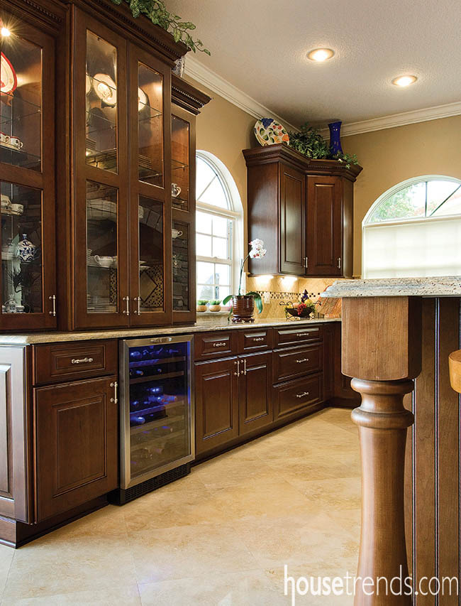 China cabinet creates storage and display space