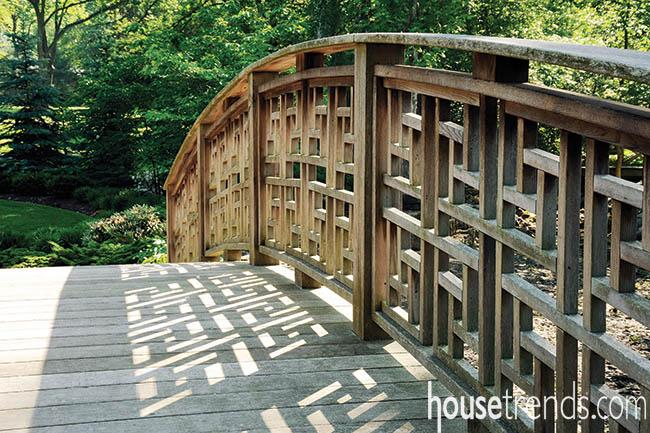 Bridge creates a walking path with a view