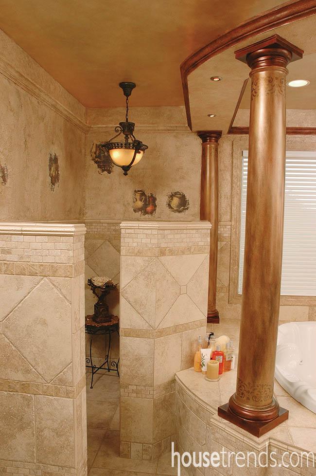 Bathroom ideas create a Roman getaway