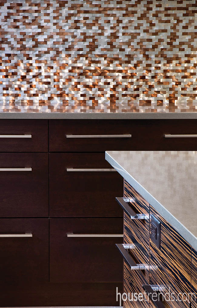 Backsplash and cabinetry complement each other