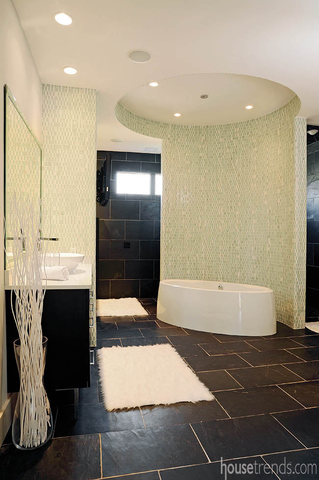 Tile pattern is stylish and functional