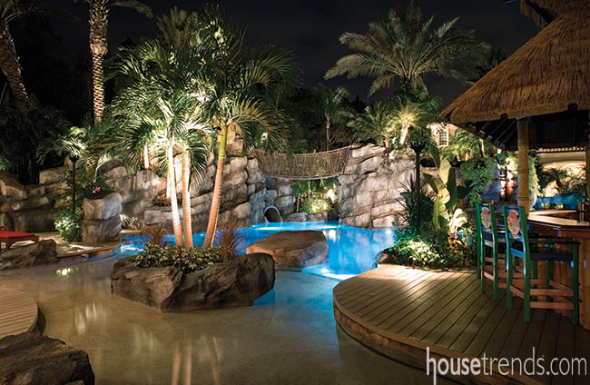 Outdoor lighting with a magic touch