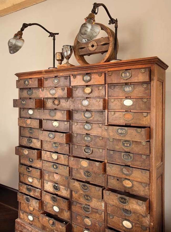 Home office interior design embraces the past