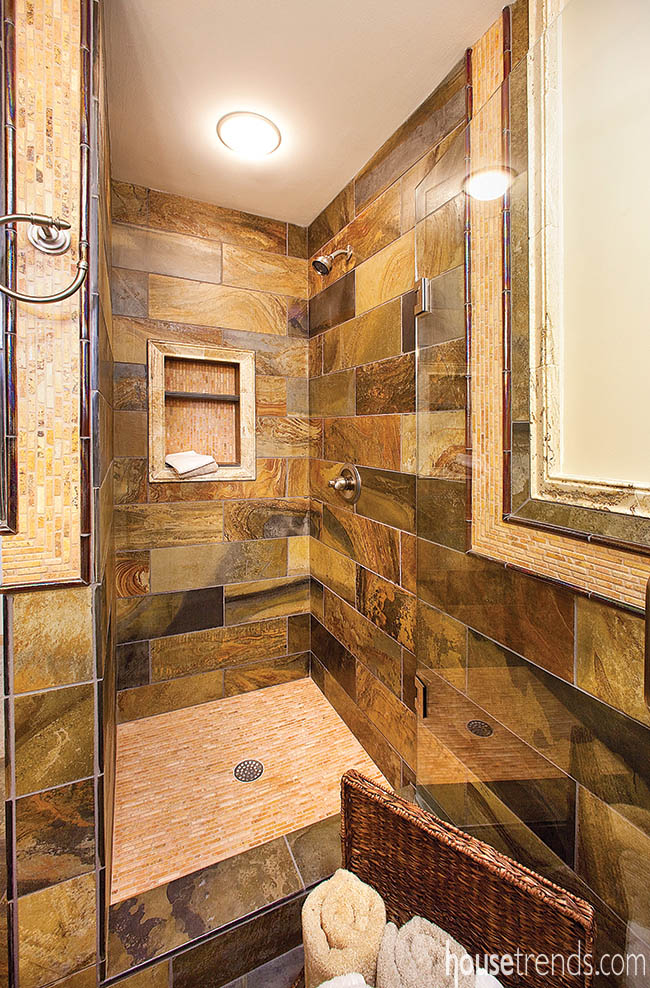 Bathroom shower ideas add a touch of drama