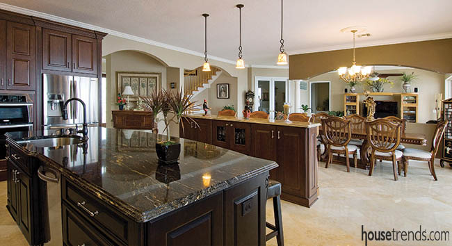 Kitchen design offers room for a crowd