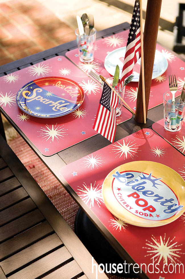 Make your outdoor table pop