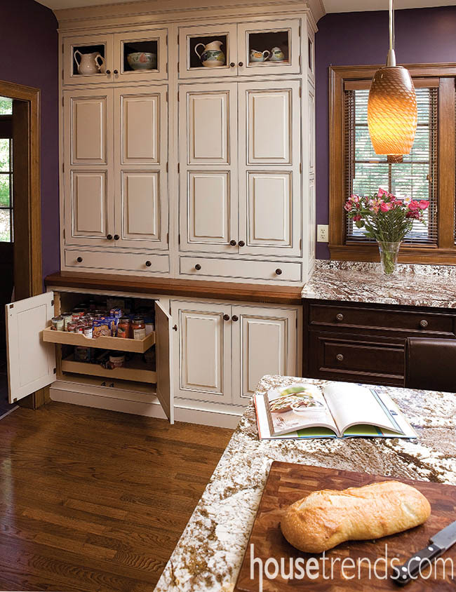 Kitchen pantry offers plenty of storage space