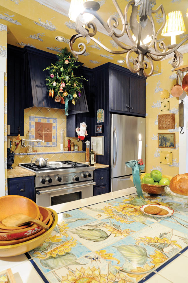Kitchen design plays up a home's build