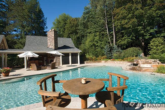Swimming pool takes on a unique design