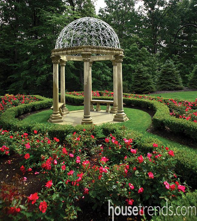 Garden creates a picturesque view