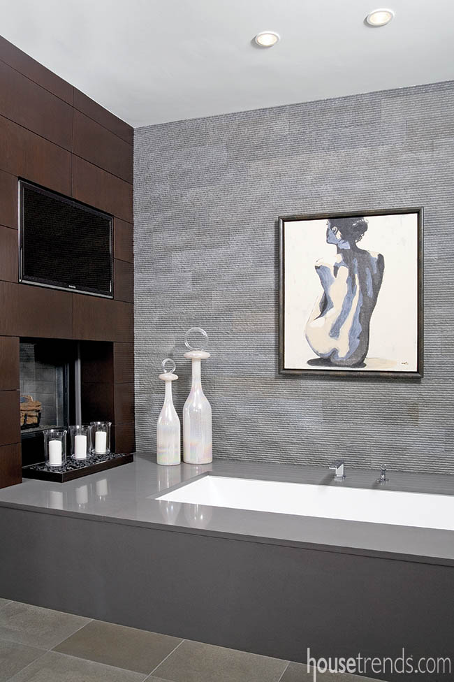 Bathroom design is all about relaxation