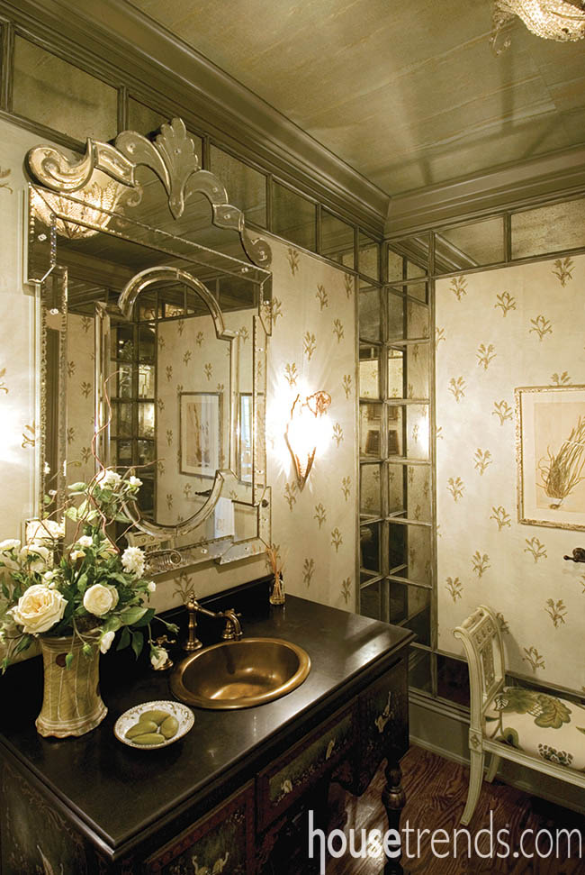 Powder room design takes a lesson from history