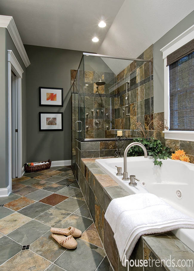 Zen And Comfort In A Master Bathroom
