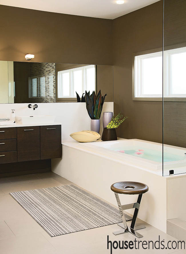 Zen bathroom design is all about neutrals