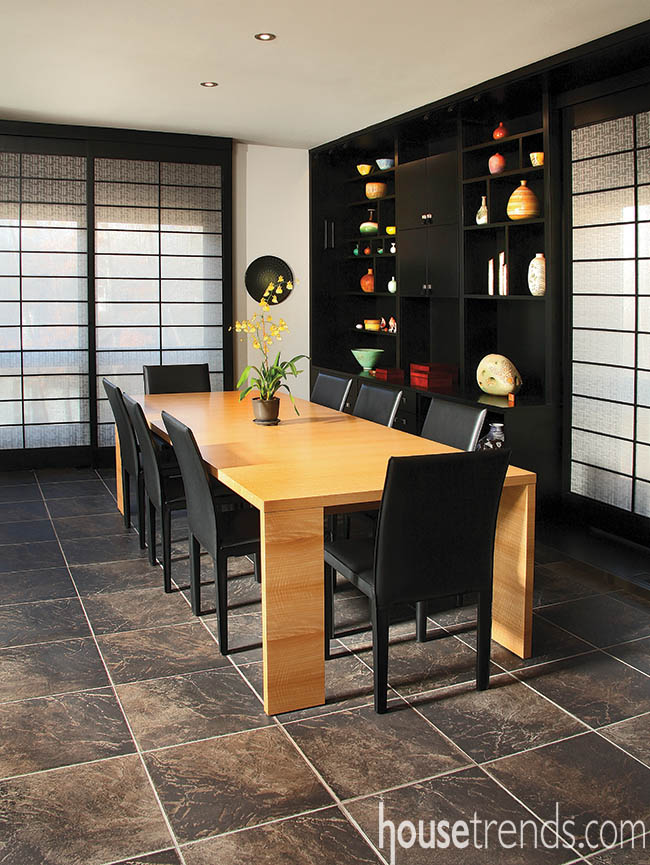 Dining room table steals the spotlight