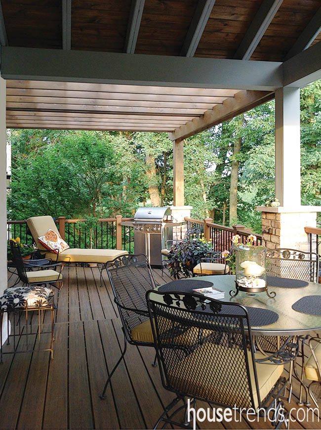 Sun shines down on a deck design