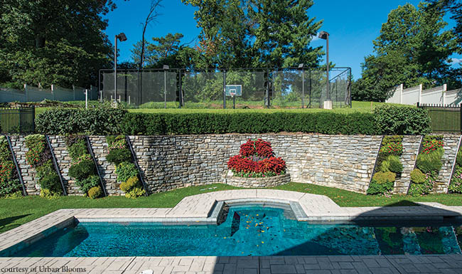 Living walls soften up a stone wall