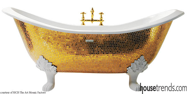 Bathtub combines glam and elegance