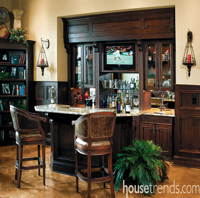 Bar cabinets allow owners to keep a generous stock