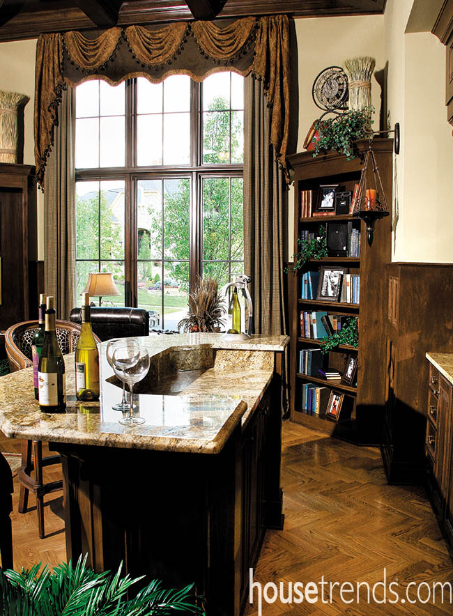 Home bar in a home office