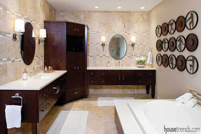 Master bathroom with a relaxing feel