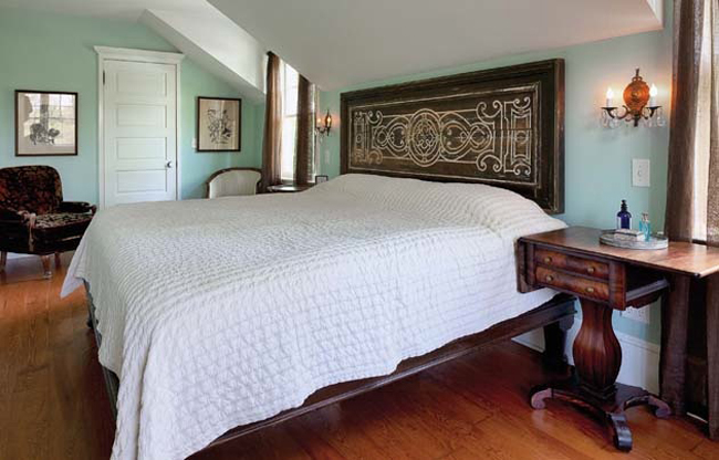 Bedroom design features one-of-a-kind accessory