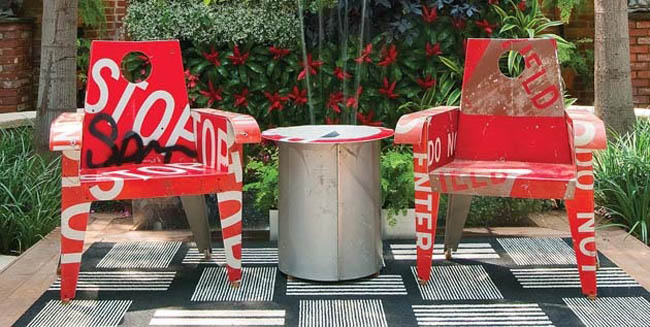 Stop and stare at this outdoor furniture