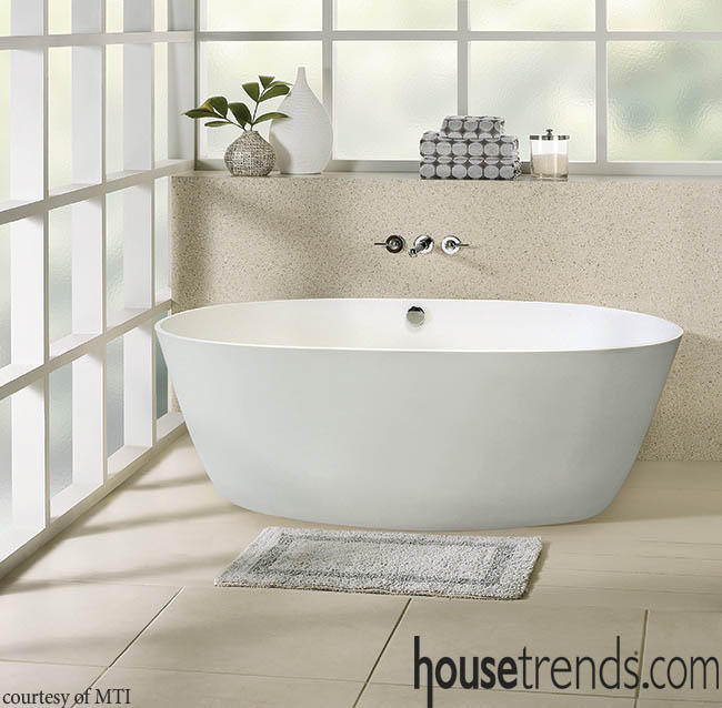 Bathtub spurns ornamental in favor of simplicity