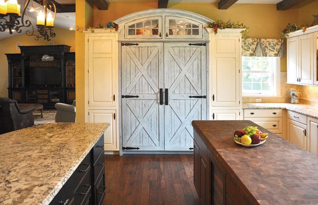 Pantry doors inspire a kitchen