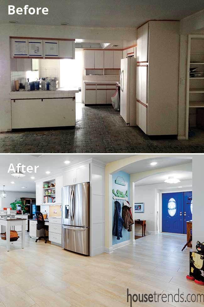 Kitchen remodel involves removing appliances