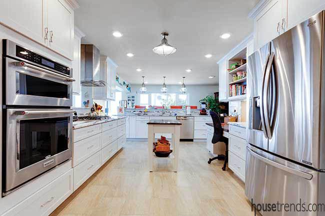 Bright, open kitchen design